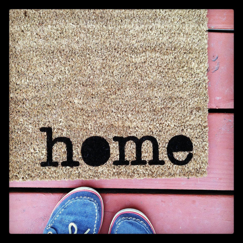 where you hang your hat doormat home natural coco coir fiber  - where you hang your hat doormat home natural coco coir fiber modern taggedoutdoor welcome mat custom doormat