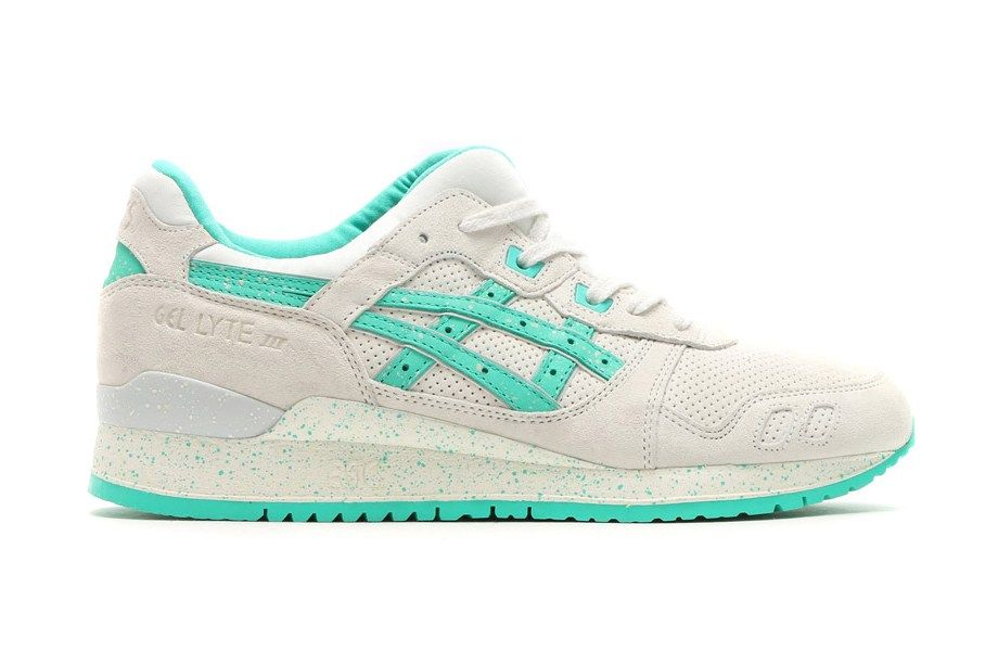 Aqua Green Accents Highlight This Asics Gel Lyte Iii Asics Gel