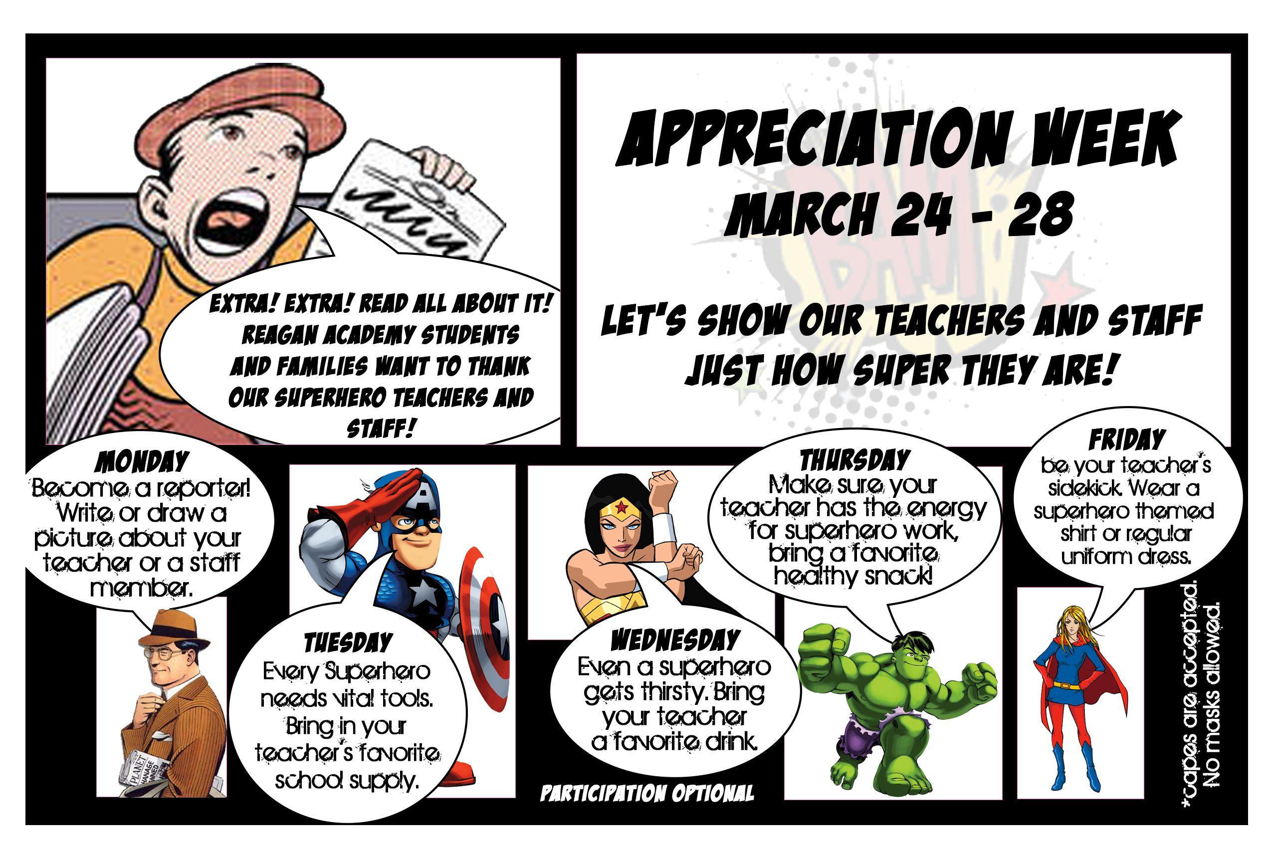 Appreciation Week Super Hero Week1