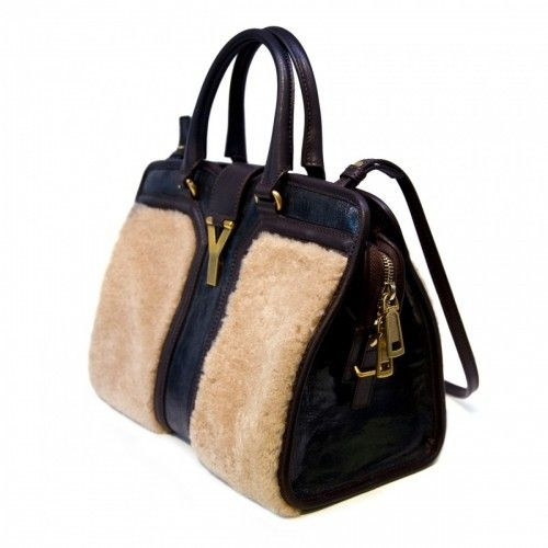 Yves Saint Laurent Cabas wool leather bag. | Hand bags dancing in ...