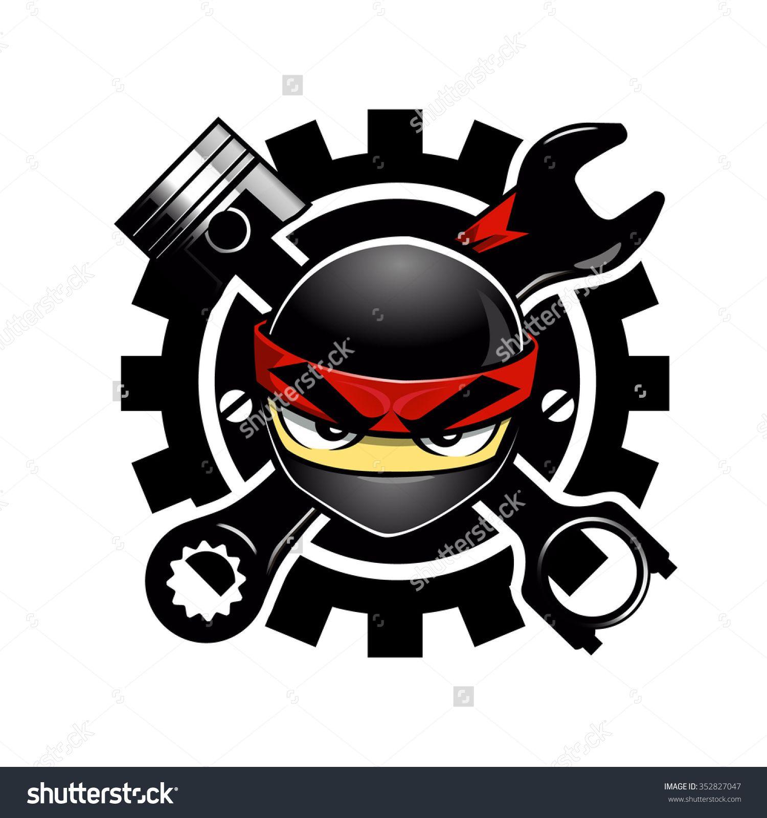 Ninja Auto parts logo Preview. Save to a lightbox Ninja
