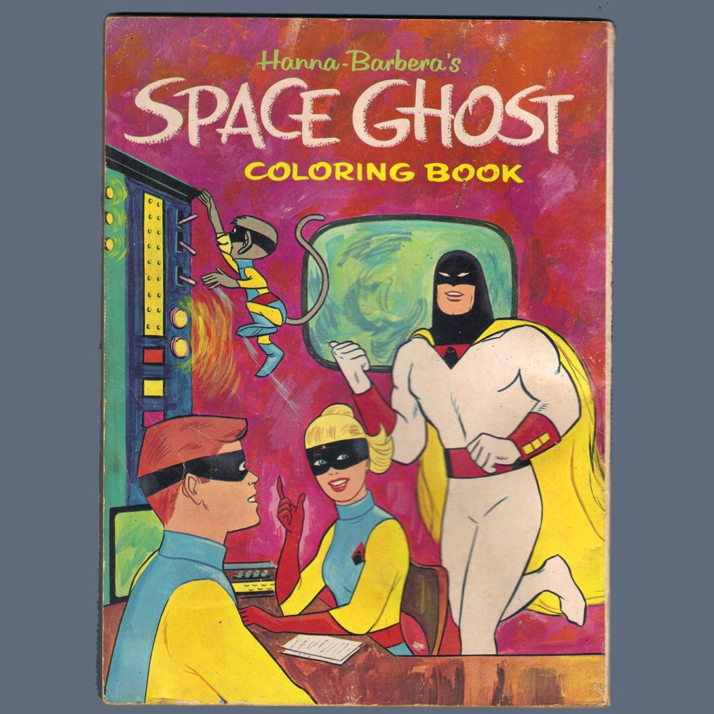 Whitman hot wheels coloring book - Vintage Space Ghost 1960s Coloring Book Hanna Barbera Whitman 1181 Rare