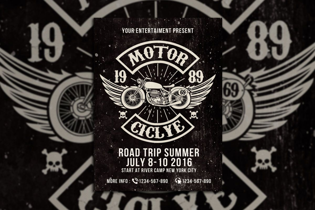 Motorcycle Club Event Flyer Template Psd Flyer Templates