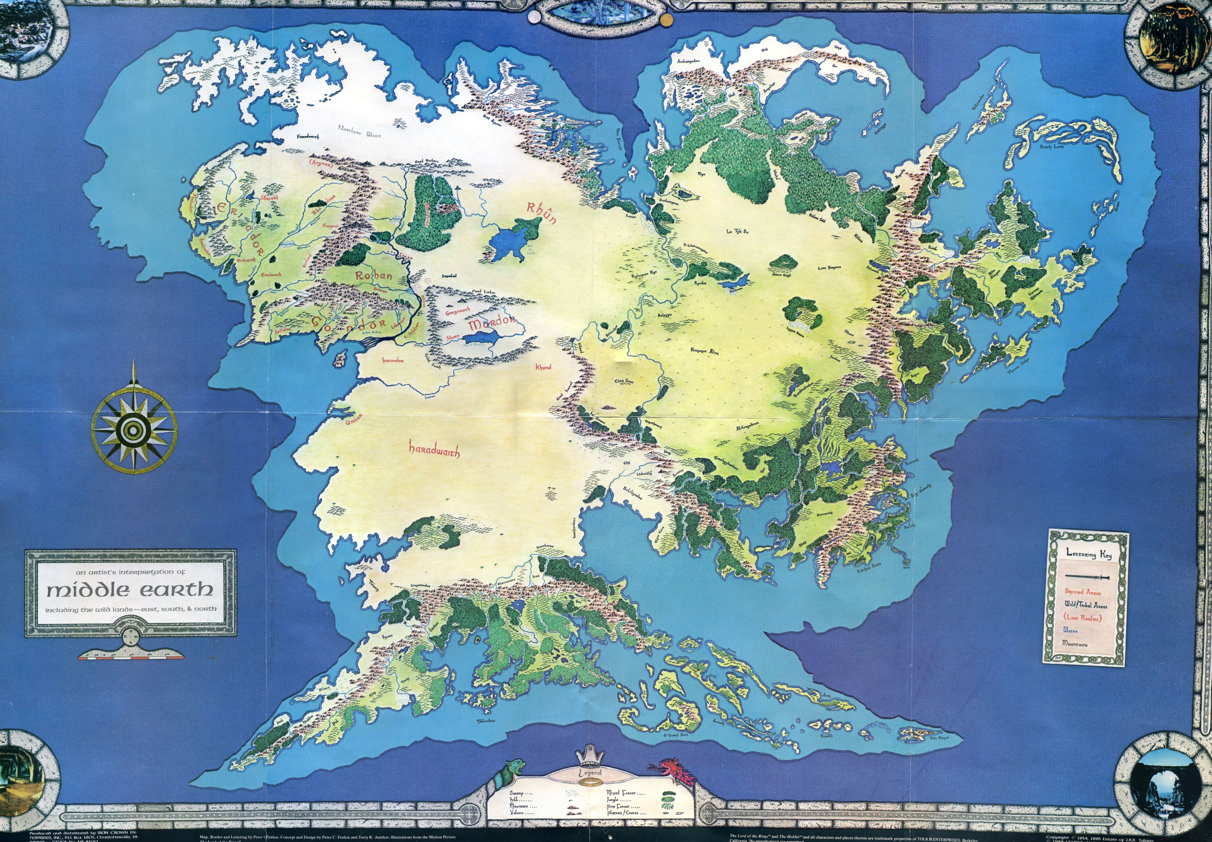 Middle earth Middle earth Old Maps