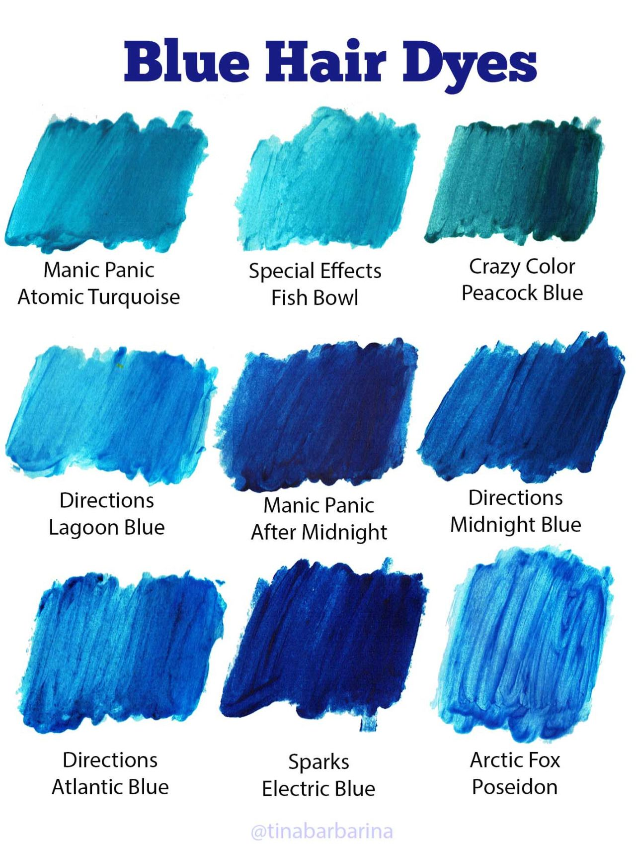 Tinabarbarina Hair Dye Tips Dyed Hair Blue Blue Tips Hair