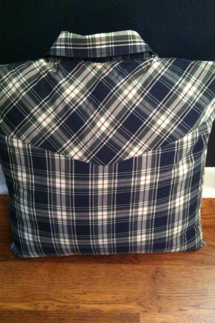 shirts made into pillow covers   KayKay's Doodles