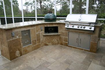 Tampa Outside Kitchen Mediterranean Patio Tampa Fusion Cabinets Inc Big Green Egg With Images Quality Kitchen Cabinets Outdoor Kitchen Kitchen