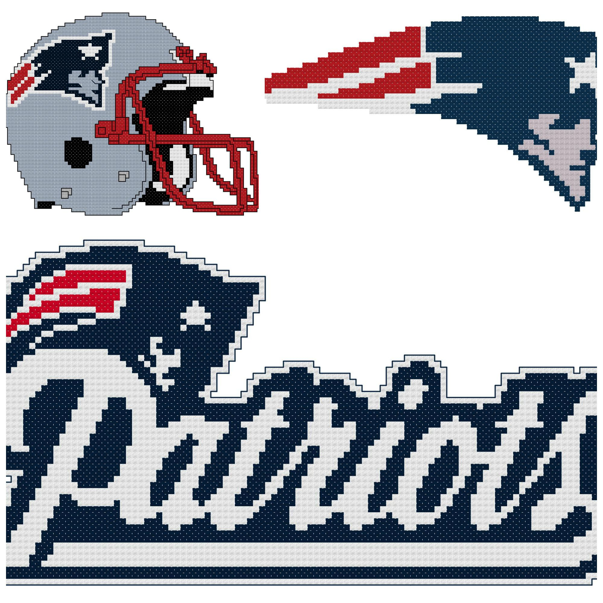 Super Bowl Champion New England Patriots Cross Stitch Collection By Endless Inspirations Cross Stitch Cross Stitch Collection Stitch Patterns