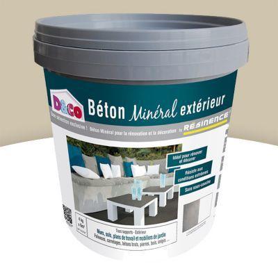 Enduit Beton Mineral Exterieur Resinence Dune Mat 4kg En 2020 Beton Mineral Beton Et Enduit