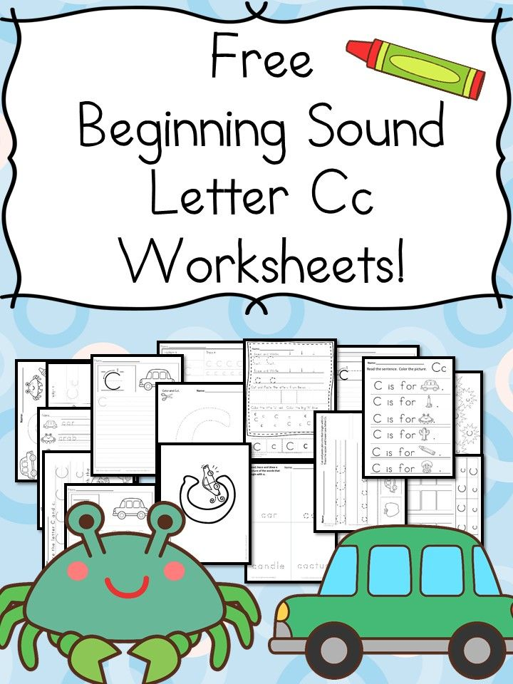 18 free Beginning Sound C Worksheets with easy download