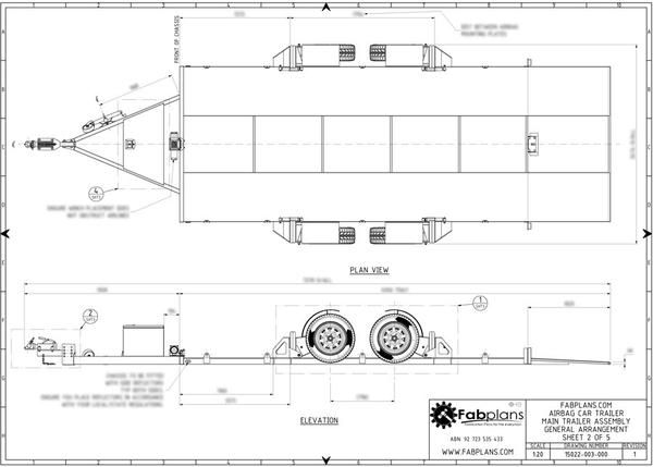 Architecture Drawing Cars fabplans airbag car trailer chassis drawing | trailer pneumatic