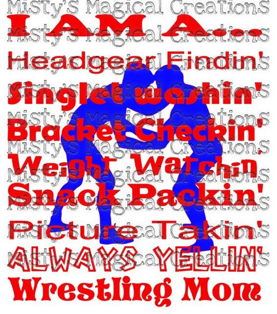 Wrestling Mom Saying SVG File INSTANT DOWNLOAD by