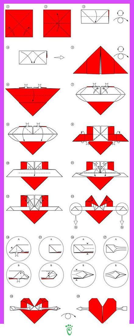DIY: Paper Heart Note Fold | 1100x440
