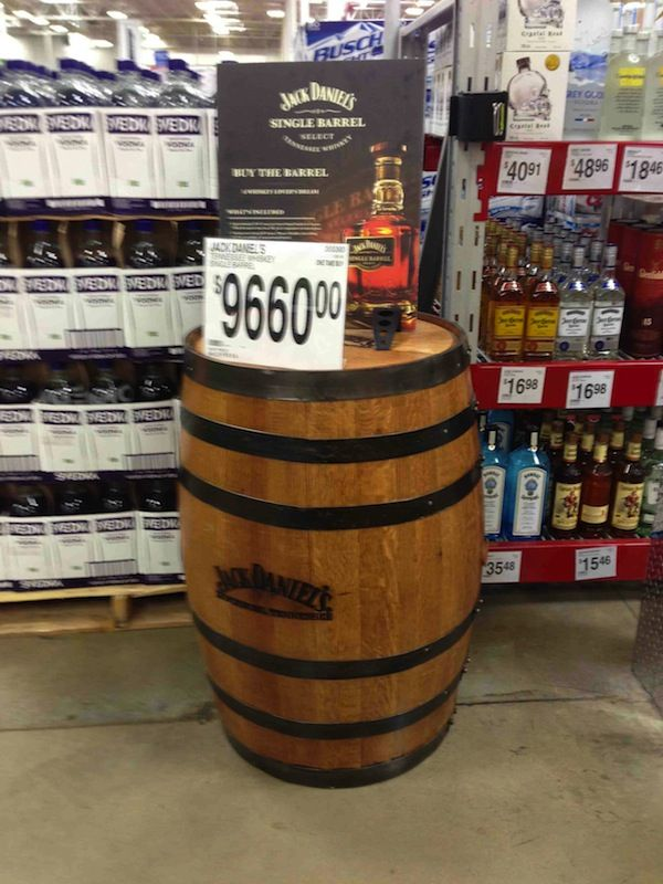 You Can Buy An Entire Barrel Of Jack Daniels At Sams Club For