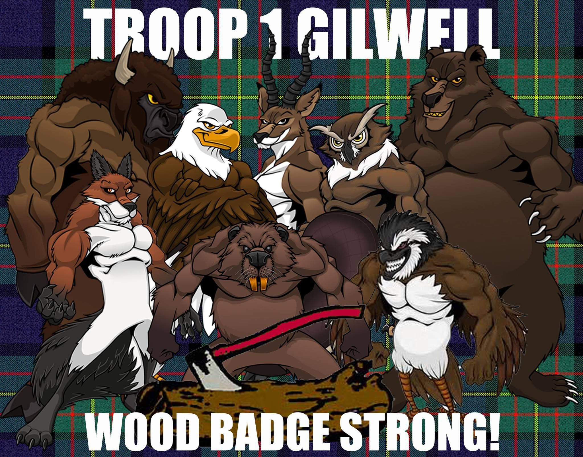 Wood badge critter superheroes