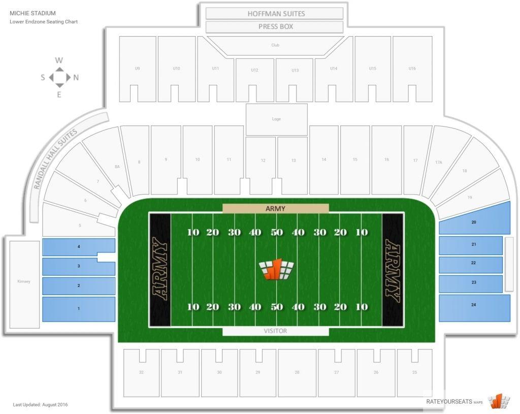 Michie Stadium Seating Chart Di 2020