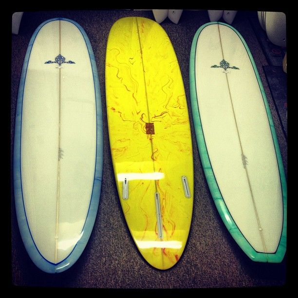 A few new mini longboards just came in from Chris Birch. These boards have some beautiful resin swirls and feel sooooo gooooood. Come down and check them out!!!!! #summer #surf #newboards #longboards #chrisbirch