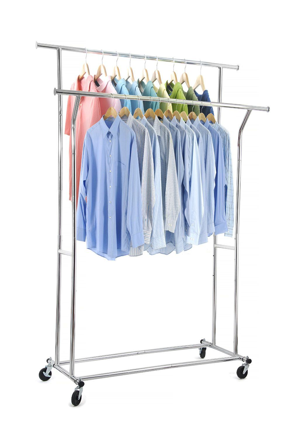 Keep Your Laundry Neat With This Adjustable Garment Rack