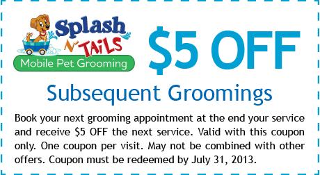 Splash N Tails Coupons Mobile Dog Groomer Mobile Pet Grooming Pet Grooming Grooming Shop