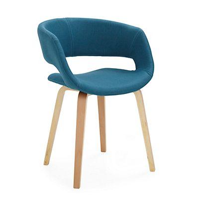 Joyau Chaise  accoudoirs bleu Maison