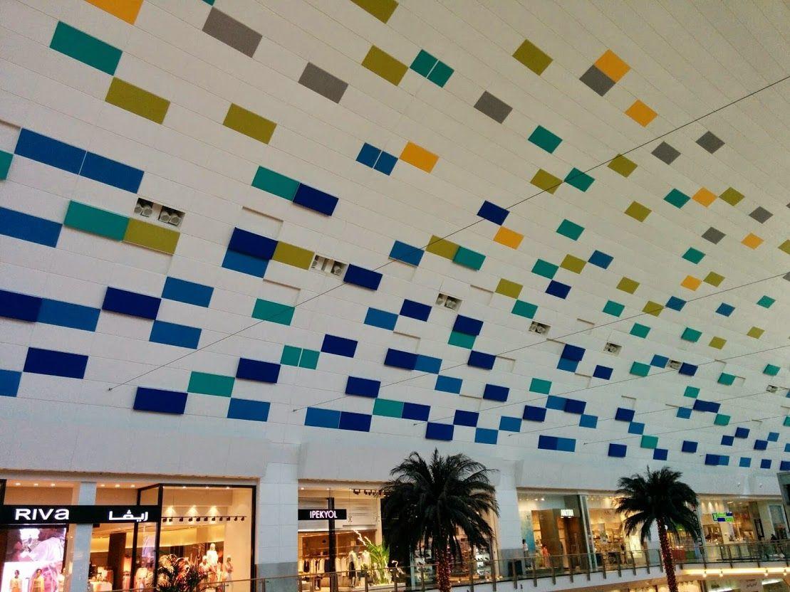 مربعات ملونه وفي مربعات فيها اضاءه فكرة جميله للجدار العلوي للحديقه Photo Wall Decor Home Decor