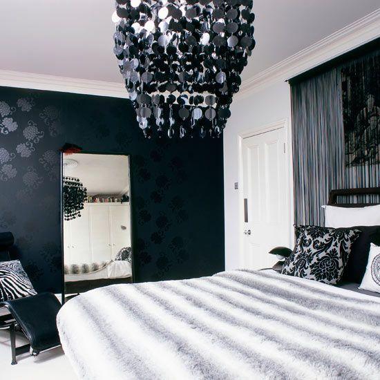 Decor Black White Rooms White Bedroom Design White Rooms Black wallpaper ideas bedroom