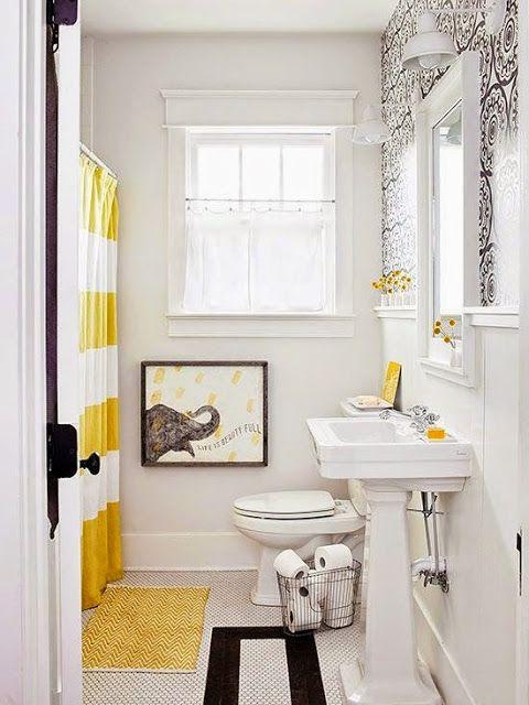 5 Budget Ways To Refresh Your Bathroom Black White Bathroomsyellow