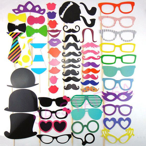 Photo Booth Props Free Quick Shipping 60pcs Set Photobooth For
