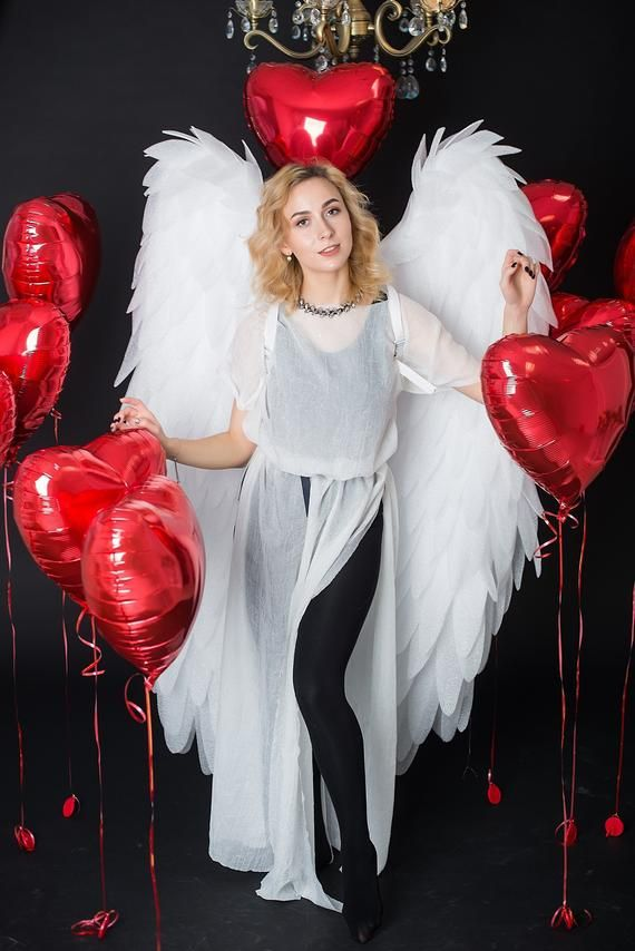 Photo of Christmas family photoshoot, Angel wings carnival costume ideas wings, House romantic portrait, Wings photo prop