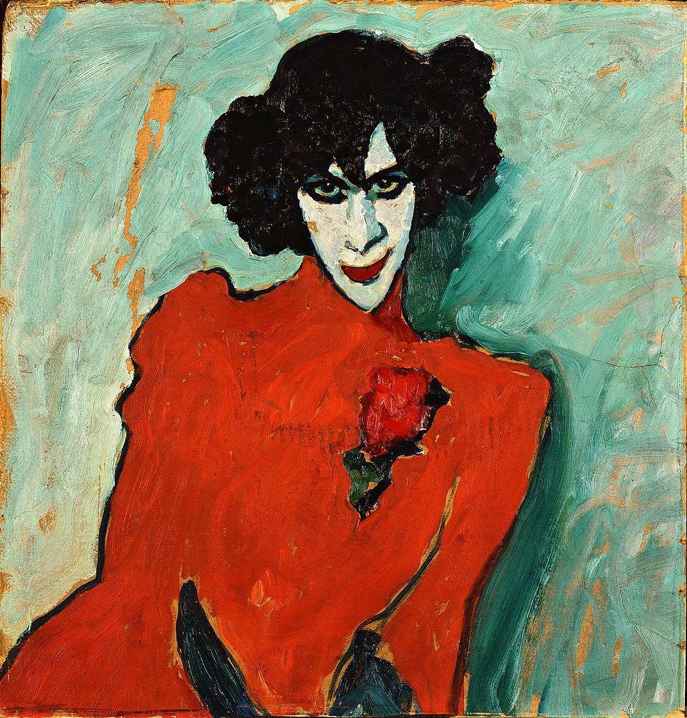 Alexander Sacharoff, 1909 // by Alexej von Jawlensky. German Expressionism