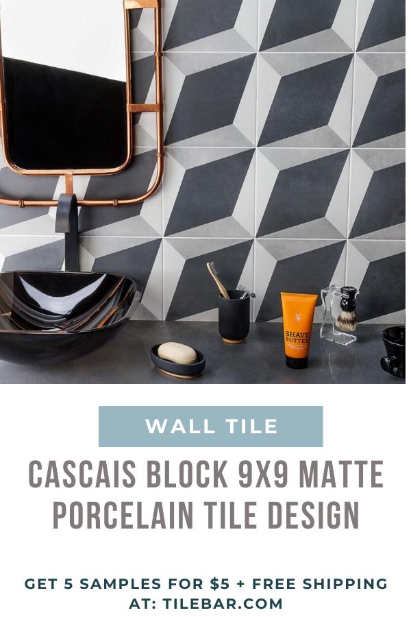 9x9 Room Design: Cascais Block 9x9 Matte Porcelain Tile