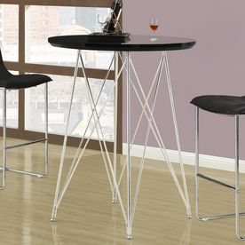 Monarch Specialties Chrome Round Dining Table With Images