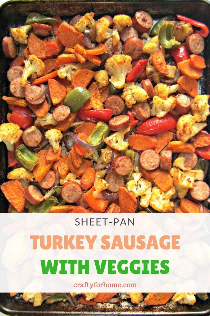 Sheet Pan Turkey Sausage With Veggies images