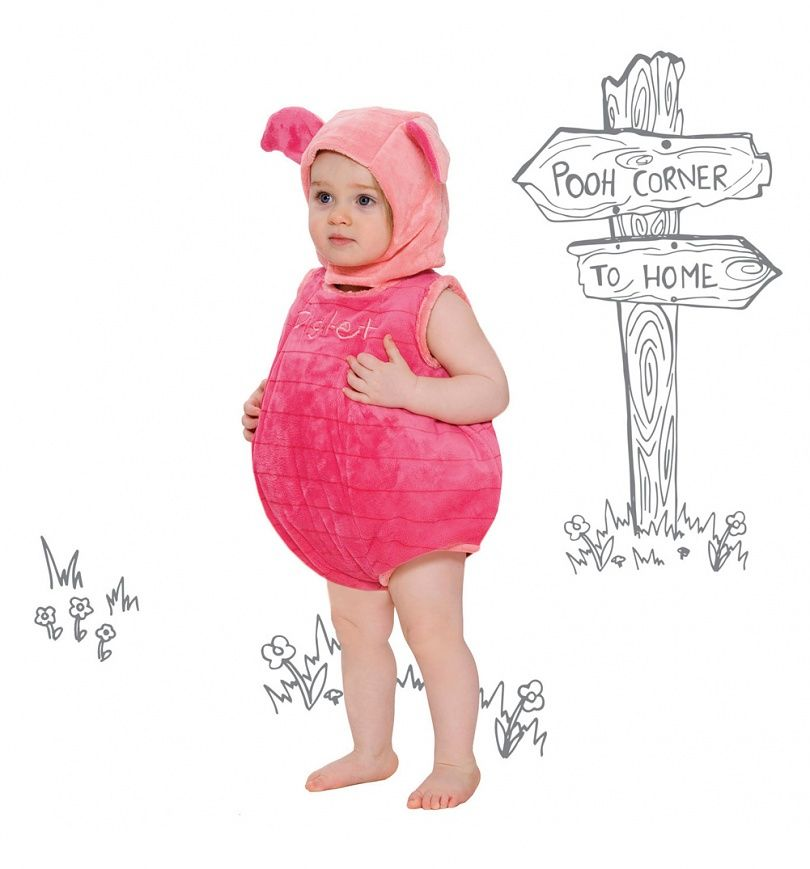 Hood Outfit Toddler Fancy Dress Costume Disney Baby Winnie the Pooh Bodysuit