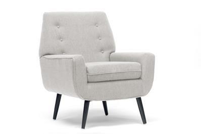 Levison Beige Linen Modern Accent Chair | Affordable Modern Furniture in Chicago