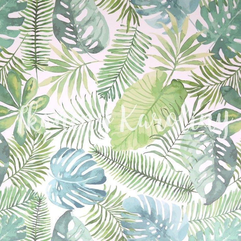 f2ca0371 Papier wodoodporny / Washable Kraft Paper - liście tropikalne ...