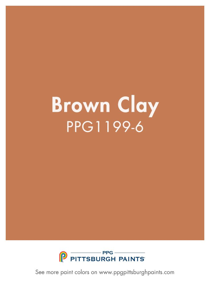 Warm Orange Paint Colors brown clay from ppg pittsburgh paints. orange paint colors evoke