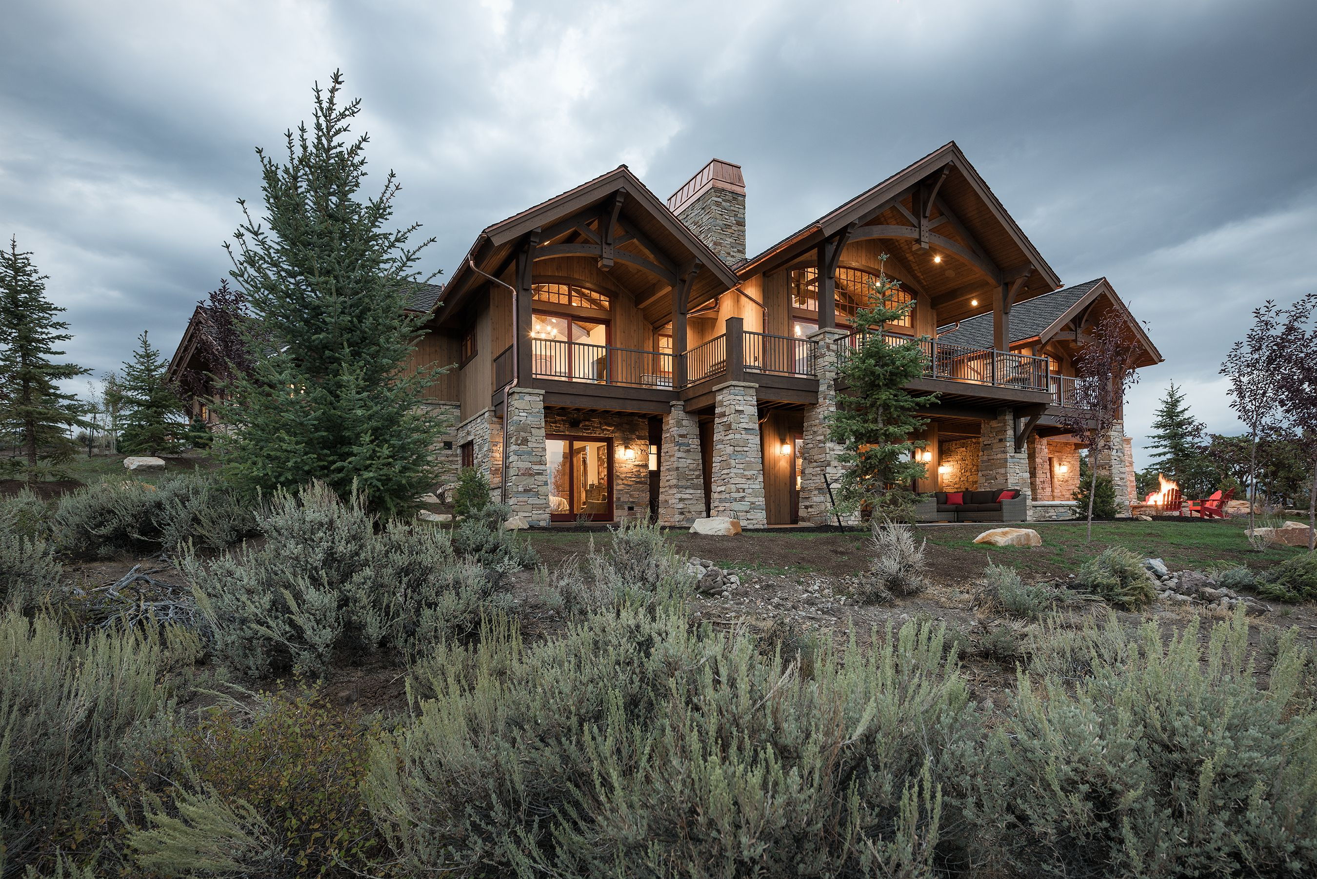 Landscaping For The 2016 Park City Showcase Of Homes In Promontory Home Built By Cameo Inc Timberridge Utah