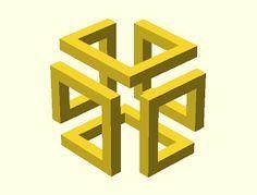 impossible cube - Google Search   design   Pinterest   Geometric ...