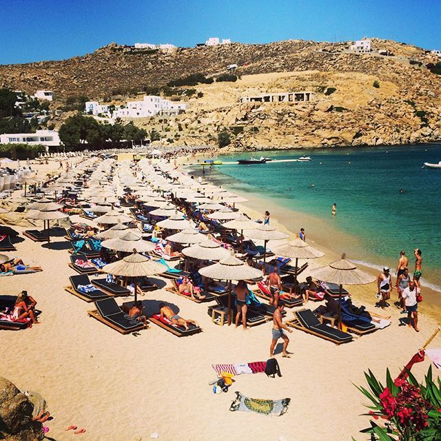 """#jackie O beach club #mykonos my #favorite club on the island.  #sun #beach #summer #pretty"" Photo taken by @vivien_frank_designs"