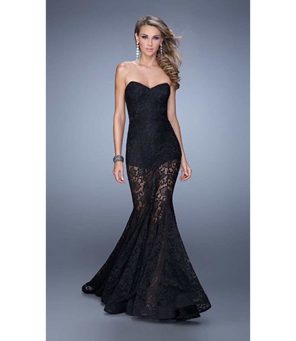 Authentic la femme dress free shipping easy returns prom