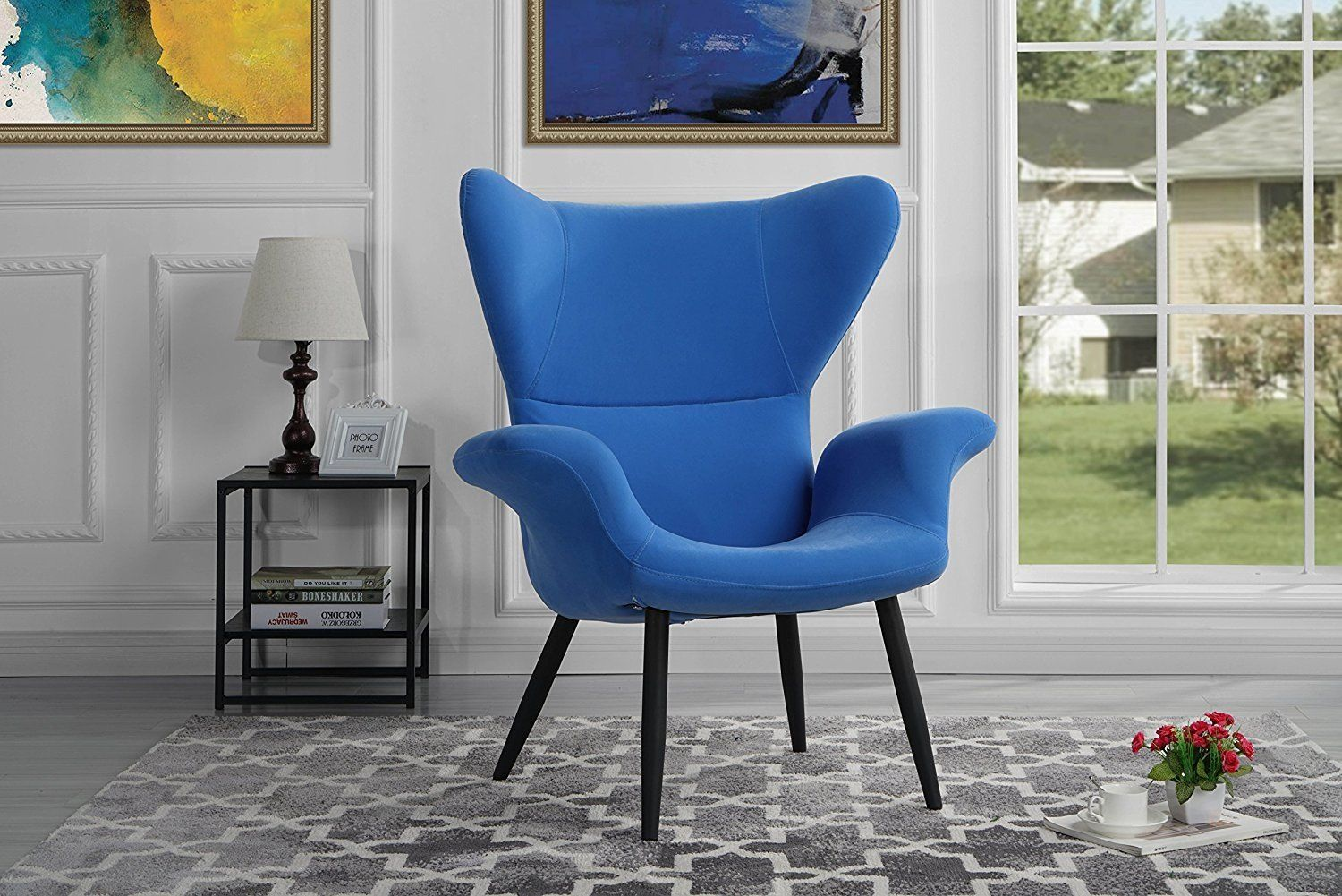 Mobilis Modern Shelter Armchair With Tall Arched Shelter Back Rest Sky Blue Walmart Com In 2020 Accent Arm Chairs Living Room Chairs Blue Furniture Living Room #tall #living #room #chairs