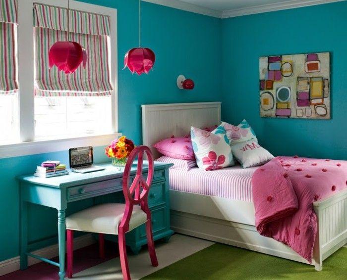 ▷ 1001+ designs stupéfiants pour une chambre turquoise | Chambres ...