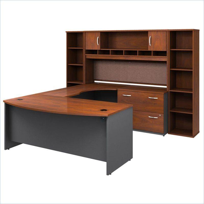 Bush Business Series C 6 Piece U Shape Right Hand Corner Desk U Shaped Office Desk Corner Desk