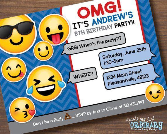 dfd1ed7ef1d2a Boys Emoji Invitation