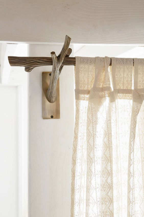 How To Make Beautiful Curtain Rods Out Of Tree Branches Branch