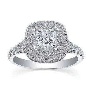 Beaver brooks MAPLE LEAF DIAMONDS 18CT WHITE GOLD DIAMOND HALO ENGAGEMENT  RING £2950