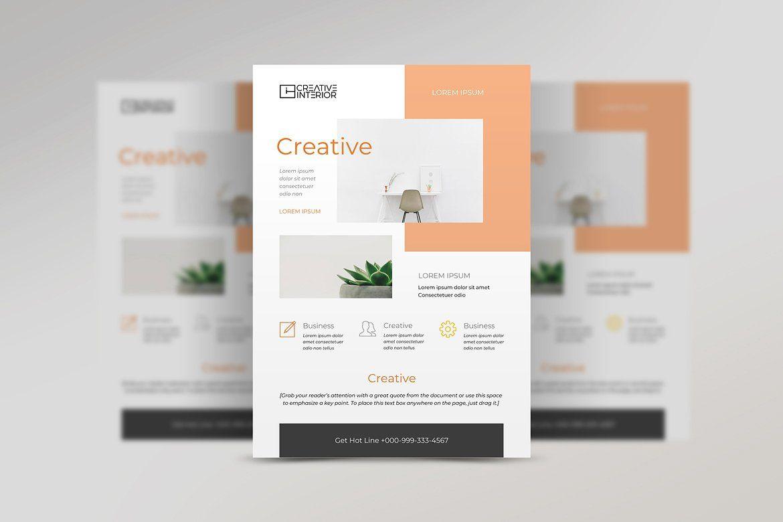 Minimal Creative Word Flyers 3 In 1 Creative Words Flyer