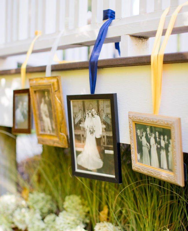 Decoração de casamento com fitas