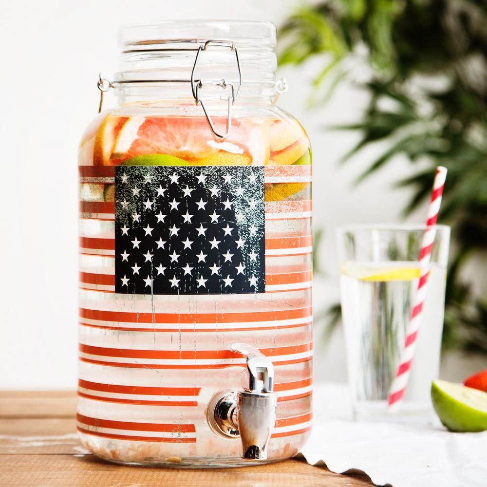 Home Essentials 1 Gal. American Flag Bail and Trigger